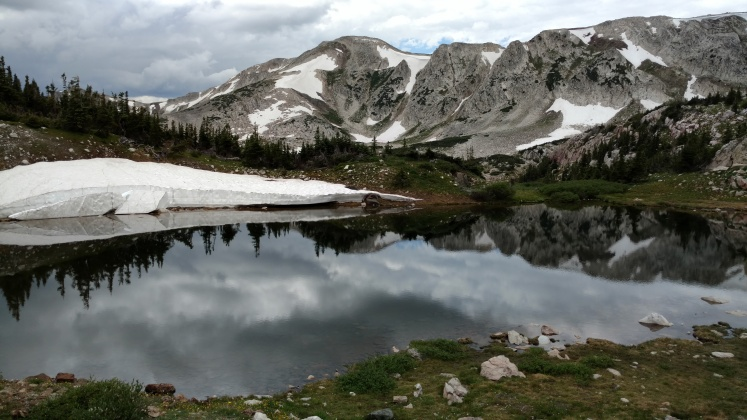 Medicine Bow Peak across on of the Gap Lakes.